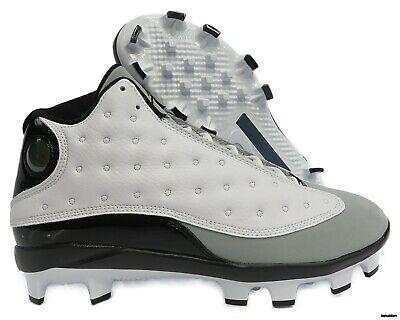 943574c06f7235 AJ8016-120 Jordan XIII (13) Retro Baseball Cleats (White   Black) Mens Size  10.5