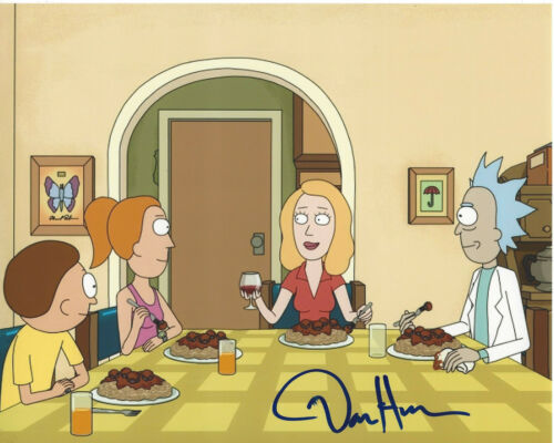 DAN HARMON - RICK AND MORTY CREATOR - SIGNED AUTHENTIC 8X10 PHOTO J w/COA PROOF