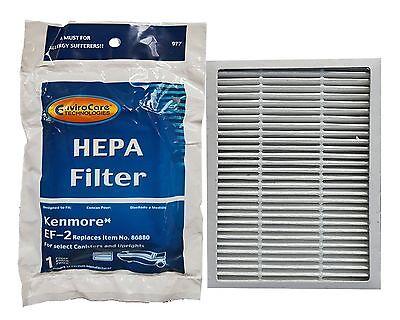 2 Kenmore Progressive EF 2 Pleated  HEPA Filters for 86880 Sears Vacuum Cleaner.