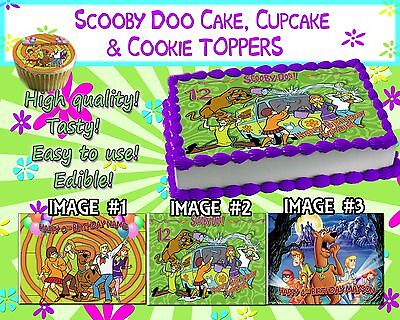 Scooby Doo Edible Cake Toppers picture sugar paper birthday cupcakes sugar - Scooby Doo Cupcake Toppers