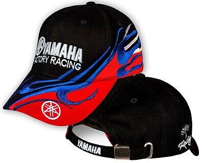 Yamaha Logo Baseball Cap - Yamaha Racing Black Red Baseball Cap 3D Embroidered Moto Bike Logo Hat Mens Gift