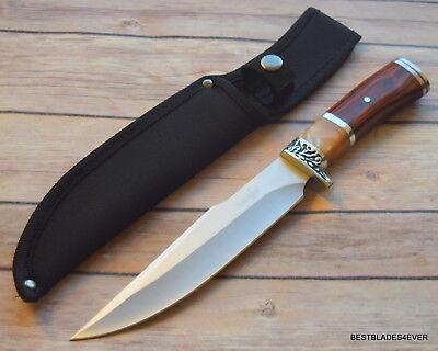 SURVIVOR FIXED BLADE HUNTING SURVIVAL KNIFE WITH NYLON SHEATH HIDDEN TANG - Hidden Knives
