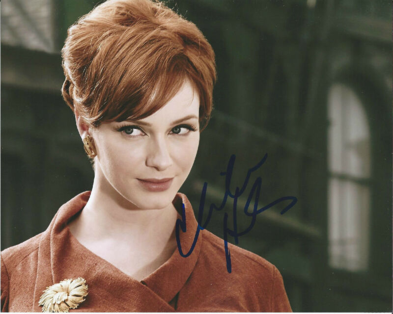 CHRISTINA HENDRICKS HAND SIGNED AUTHENTIC MAD MEN DRIVE FIREFLY 8X10 PHOTO COA!!