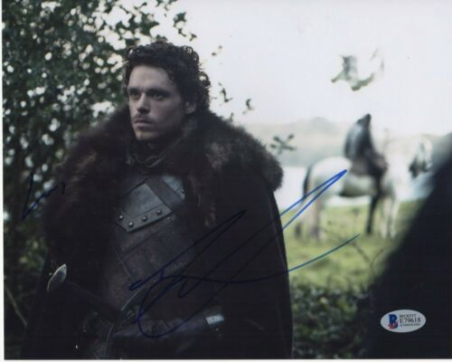 RICHARD MADDEN SIGNED GAME OF THRONES PHOTO 8X10 BODYGUARD AUTOGRAPH BAS COA