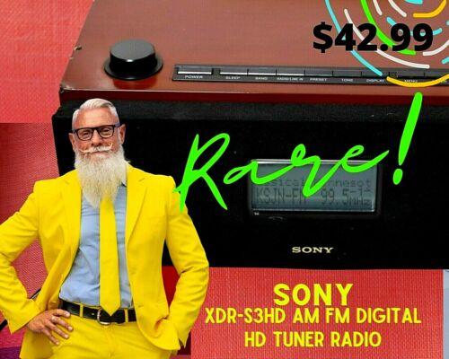 RARE Sony XDR-S3HD AM FM Digital HD Tuner Radio + AC power + Antenna.
