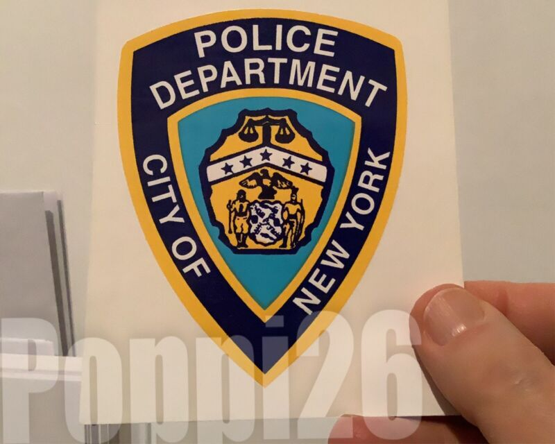 NYS City Of NY Police Department OFFICIAL Outside Sticker Decal *Last Quantity