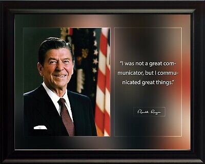 Ronald Reagan I Was Not A Great Poster Print Picture or Framed Wall Art