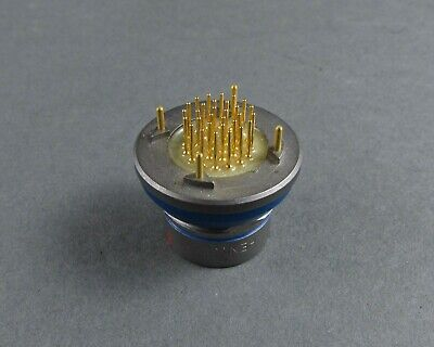 Lemo Hen.3f Bh Fixed Panel Mount Flange Recpt W 30 Pc Tail Gold Sockets 24 Awg