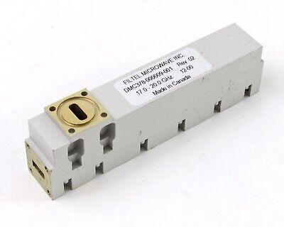 Filtel Microwave Dmc378-000009-001 Waveguide Diplexer 17-20 Ghz Wr-42