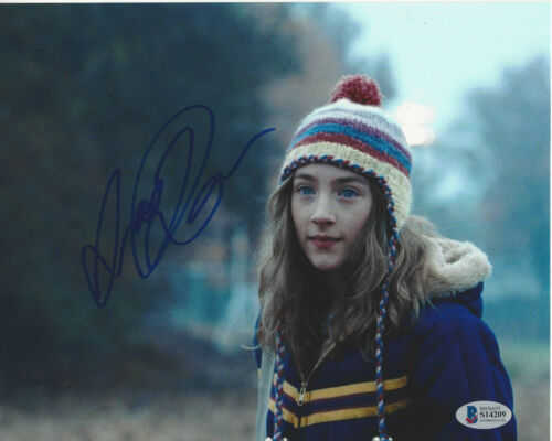 SAOIRSE RONAN SIGNED THE LOVELY BONES 8x10 PHOTO SEXY ACTRESS BECKETT BAS COA