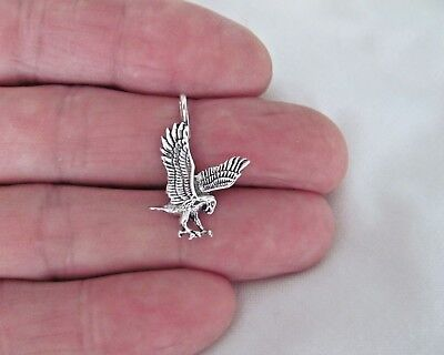 Sterling Silver 20mm Eagle pendant -