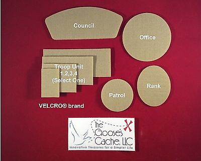 Tan Sew-on VELCRO® brand hook and loop for Attaching Patches to Boy Scout Shirts