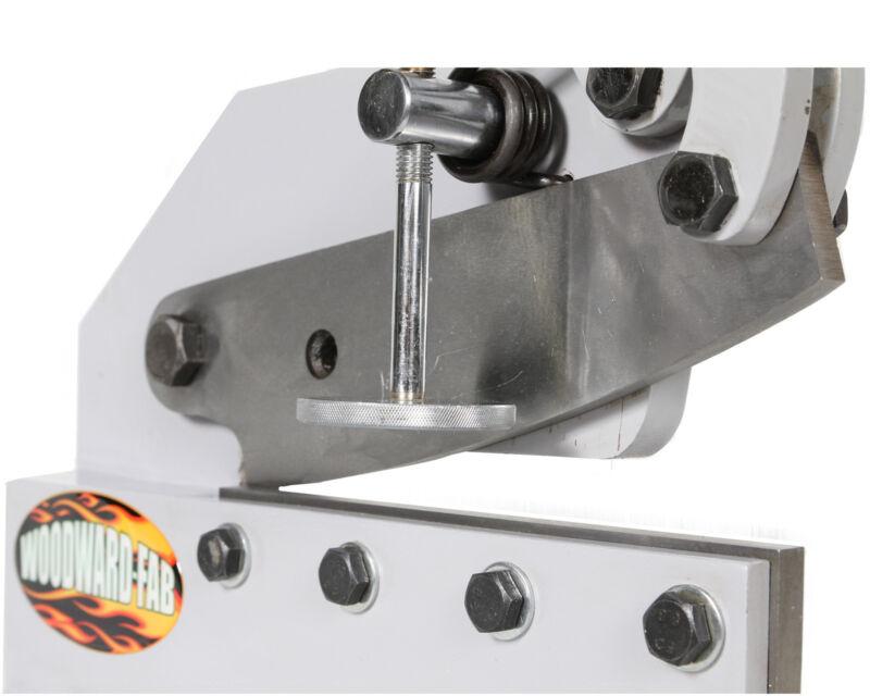 "Woodward Fab Throatless Hand Shear Sheet Metal Cutting Bench Mount SPHS10 10"""