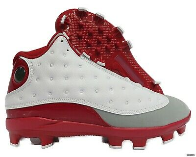 8a651f2787ac60 AJ8016-126 Jordan XIII (13) Retro Baseball Cleats (White   Red) Mens Size 12