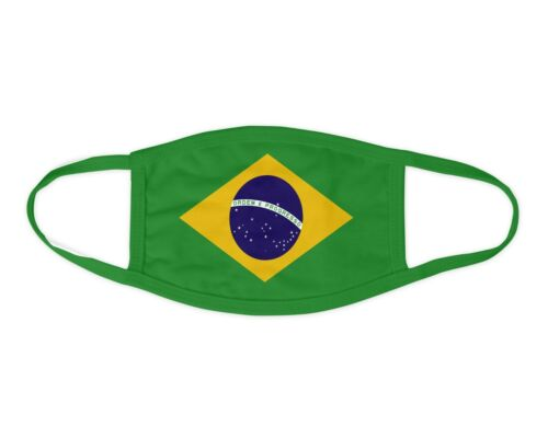 Brazil Flag Face Mask Washable Face Covering