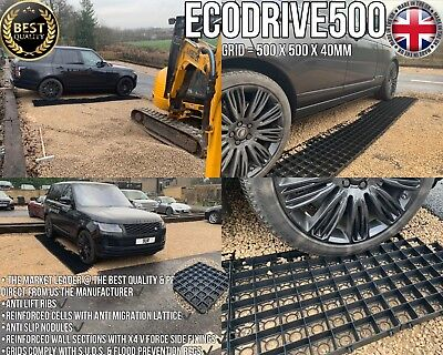 DRIVEWAY GRID 5 SQ/M & MEMBRANE KIT PERMEABLE ECO PARKING GRAVEL DRIVE STABILITY