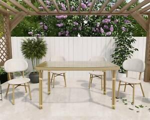 Margo 4 Seater Natural Rattan Dining Set