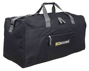 6d2462c8dc4d Mens EXTRA LARGE BIG Sports   Gym Duffle Holdall Bag TRAVEL WORK MIG BLACK  2016