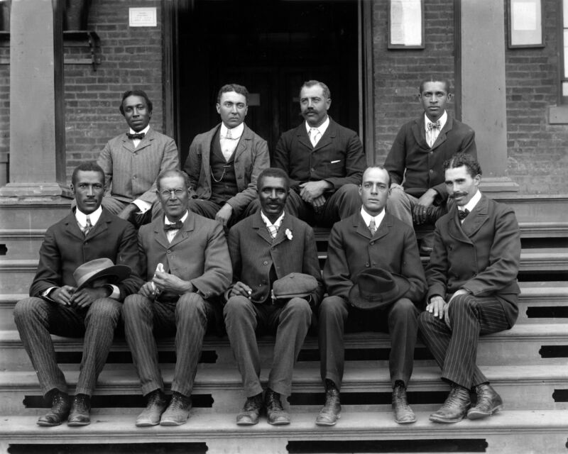 1902-George Washington Carver Poses with Fellow Faculty Tuskegee Institute Photo