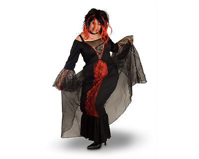 Female Women Vampire Vampiress Black Dress Plus Size Halloween Party Costume - Female Vampire Costume
