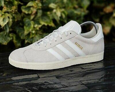 BNWB Genuine Adidas Originals ® Gazelle Crystal White Suede Trainers UK Size 10