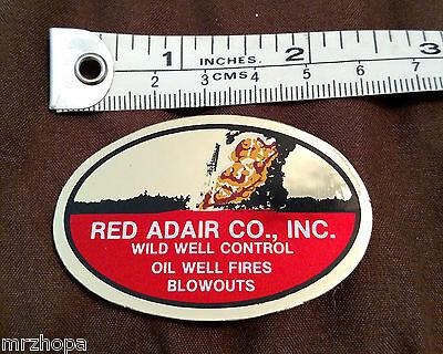 Red Adair Hard Hat Sticker / Original 1980's Oil Field Sticker