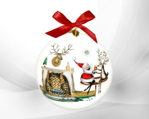 LI BIEN 2021 CHRISTMAS WHISKEY Ornament Hand Painted on inside