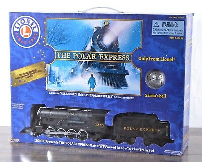 Lionel The Polar Express 4-pc Battery Powered Train Set 32 Track Pieces w/ Bell