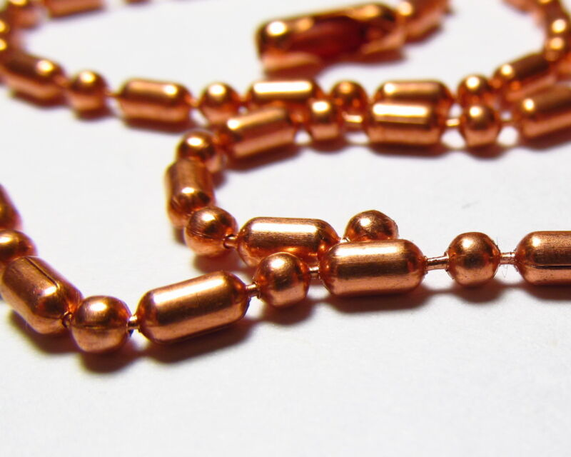 #3 Elegant SOLID COPPER BAR and BALL Chain Bracelets and Necklaces