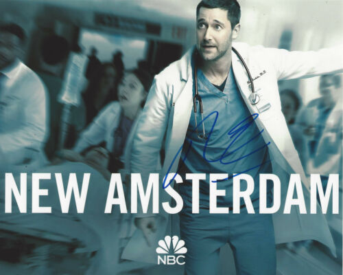 RYAN EGGOLD SIGNED AUTHENTIC 'NEW AMSTERDAM' DR. MAX 8x10 PHOTO w/COA ACTOR