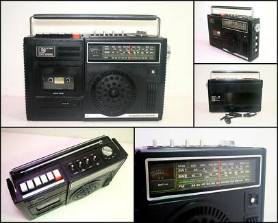 1970's PYE RC106M 4 Band Radio Cassette Boombox
