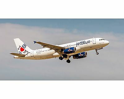Jetblue Airlines A320  I Love Ny Colors  10X20 Photo  Appm10007