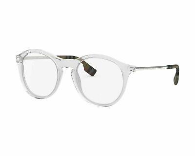 Burberry Round Eyeglasses BE2287F 3024 50mm Transparent / Demo Lens (Round Glasses Transparent)