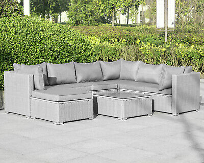 Gartenmöbel (Poly Rattan Gartenmöbel Lounge Möbel Sofa Sitzgarnitur Gartengarnitur Sitzgruppe)