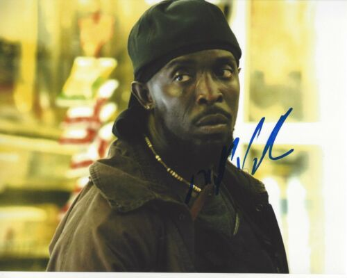 ACTOR MICHAEL K WILLIAMS SIGNED 8X10 PHOTO B W/COA THE WIRE TV SERIES