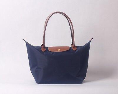 Longchamp New Le Pliage Nylon Tote Handbag Navy Blue Large Authentic - Blue Tote