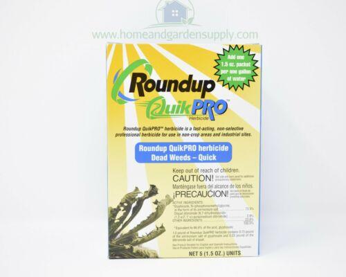 2 Round Up Quick Pro 10 packs 73.3% Glyphosate Fast Weed and Root Killer