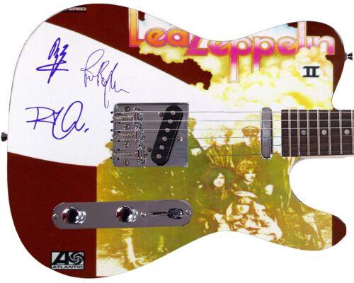 Led Zeppelin Autographed Cover Album LP CD DVD Photo Guitar