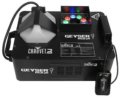 CHAUVET DJ GEYSER RGB JR Compact Fog/Smoke Machine & LED Fire/Flame Effect Light