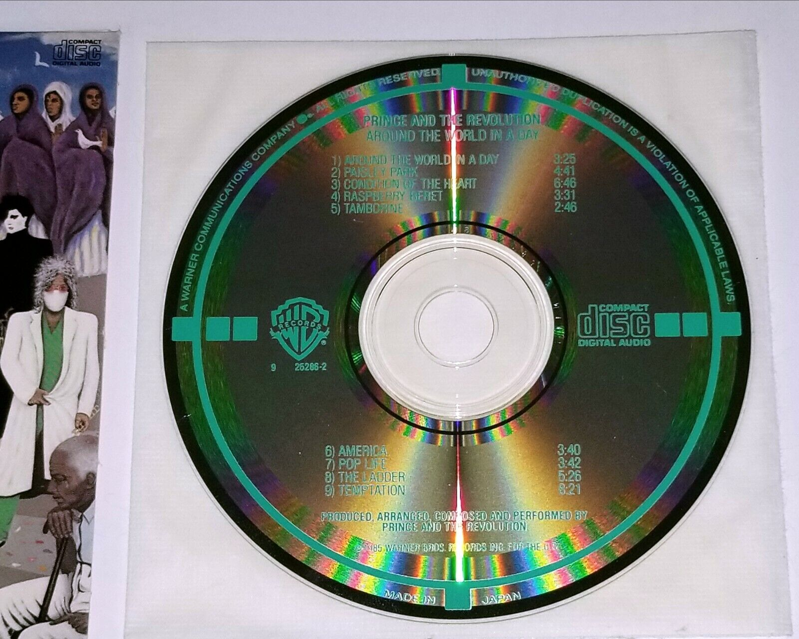 PRINCE LONGBOX CD AROUND THE WORLD IN A DAY THE REVOLUTION PAISLEY PARK FUNK Lp - $159.00