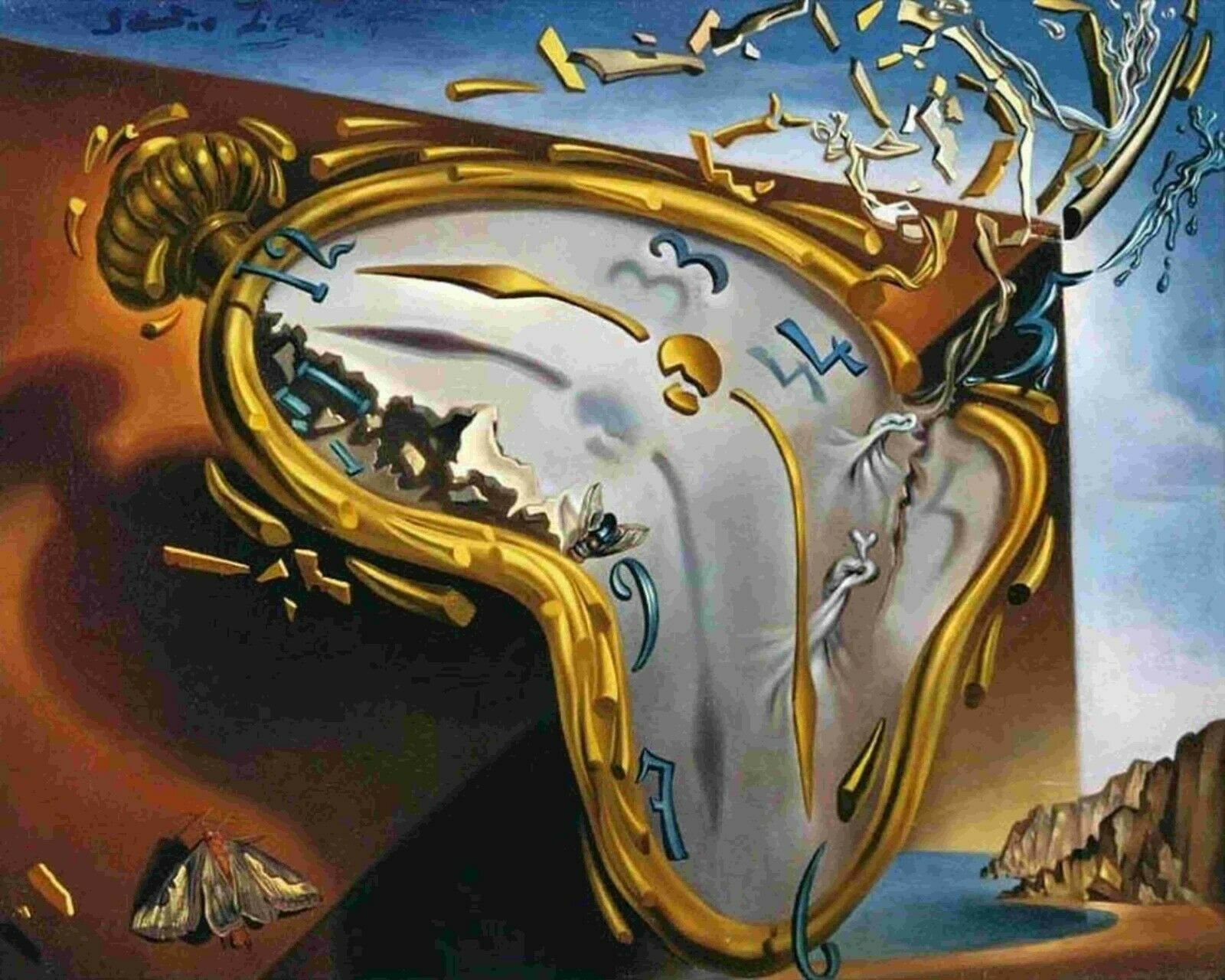 Melting Watch by Salvador Dali - Van-Go Paint-By-Number Kit | eBay