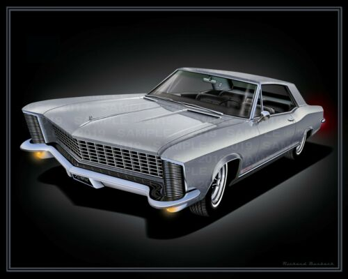 1965 Buick Riviera Poster   GS Grand Sport