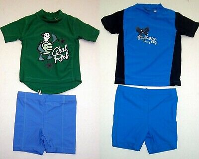 Badeanzug Badebekleidung Baby Junge Unisex 2 TEILE Badehose Shirt UV Schutz 50 +