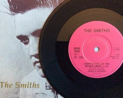 The Smiths  Shoplifters  Rare Uk 7  With Solid Centre  Pic Sleeve  Vinyl Record