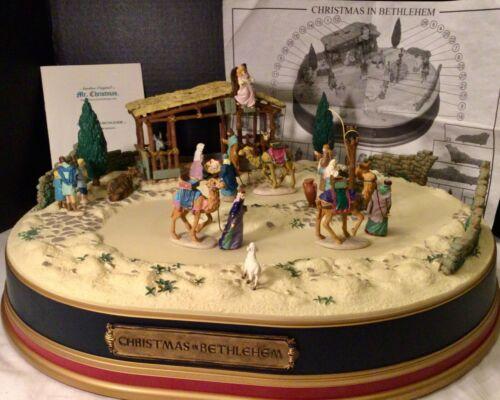 Vintage Mr Christmas Musical Christmas in Bethlehem Animated Nativity 1997