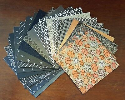 Assorted Scrapbook/Cardstock Paper Pack (Halloween Scrapbook Cardstock)