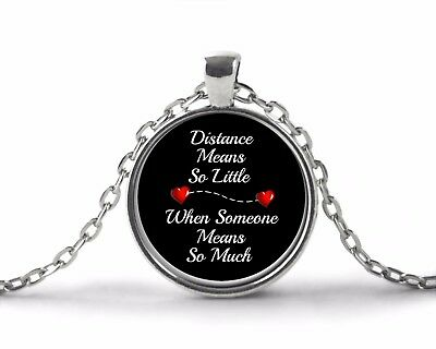 Long Distance Relationship Best Friend Mom Sister Gifts - Necklace Jewelry