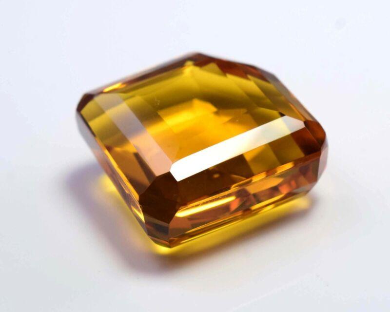 65 Ct Best Yellow Citrine Fancy Shape Cut Loose Gemstone S-2417