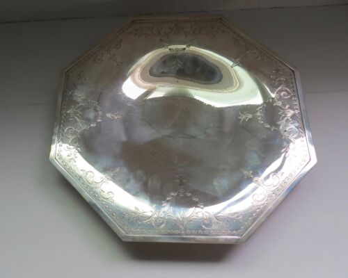 """Shreve & Co Sterling Silver 11 1/2"""" on Pedestal Plate Platter 11089"""