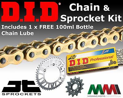 Honda CBR125R 04-10 Motorcycle DID UPGRADE Gold Chain and Sprocket Kit